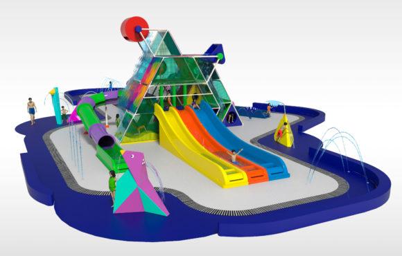 一个新的水上互动游戏:金字塔